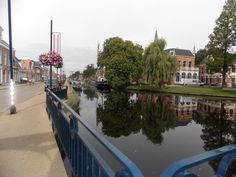 The canal on the Heerenveen town of Friesland