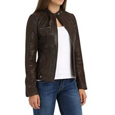 chaqueta-de-cuero-mujer-tabacco-desires Leather Jacket, Jackets, Fashion, Models, Clothes, Free Pattern, Women, Studded Leather Jacket, Down Jackets