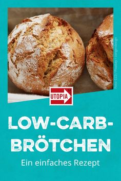Low-carb buns: a simple recipe - Low-Carb-Brötchen: Ein einfaches Rezept – Utopia.de Low-carb buns: Start the day easily with a low-carb baking recipe for breakfast. We'll show you how to bake low-carb rolls. Keto Foods, Keto Snacks, Healthy Desserts, Low Carb Buns, Low Carb Breakfast, Breakfast Recipes, Breakfast Casserole, Low Calorie Recipes, Diet Recipes
