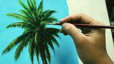 Learn How To Paint Coconut Tree - Instructional Acrylic Painting Lesson ...