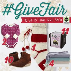 GET EXCITED: Our Top 15 ULTIMATE #FairTrade  Holiday Gift Guide is here (Just in time for #CyberMonday )! Enter to #WIN  some festive goodies here: http://fairtrd.us/1LJQiWE #GiveFair   #Holidays #GiftGuide #giveaway #contest
