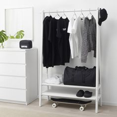 IKEA offers everything from living room furniture to mattresses and bedroom furniture so that you can design your life at home. Check out our furniture and home furnishings! Closet Ikea, Ikea Closet Organizer, Closet Organization, Closet Bedroom, Coat Rack Ikea, Ikea Clothes Rack, Ikea Rack, Bedroom Storage, Home Decor Ideas