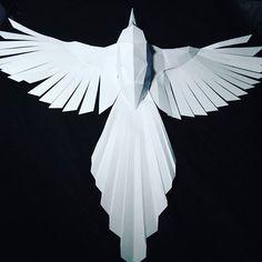 #lowpoly #paper #bird #homedecor #papercraft #scultura di #carta #poligonalart