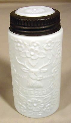 Flaccus pint canning jar in milk glass