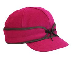 Ida Kromer Cap (in Raspberry) (Stormy Kromer) (23-25 oz. 80% wool / 20% nylon.100% cotton lining. Made in the USA with globally sourced materials. Dry clean only.)
