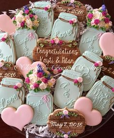 """Cookies for an """"I Do"""" bbq. Congrats to the couple! - Claudia's Creative Cookies"""