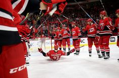 The Carolina Hurricanes will look to start 2019 the same way they ended 2018 with a win. Tonight will be vital as the Hurricanes have the chance to climb . Ice Hockey Teams, Hockey Baby, Hockey Stuff, North Carolina Colleges, Hurricanes Hockey, Nc State University, Carolina Hurricanes, Philadelphia Flyers, Aesthetic Pictures