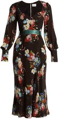 a17087a6f12 ERDEM Berdine sweetheart-neck silk midi dress  erdem  dress  sale