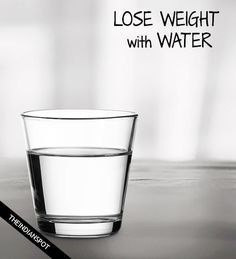DRINK WATER TO SPEED UP WEIGHT LOSS