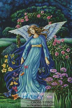 Garden Angel Counted Cross Stitch Pattern http://www.artecyshop.com/index.php?main_page=product_info&cPath=74_76&products_id=970