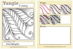 BEEZ in the Belfry: Tangle of the Week - Finery