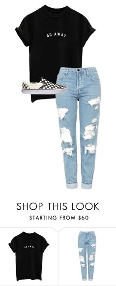 """./.../.../.../..././..."" by anna-mae-equils ❤ liked on Polyvore featuring Topshop and Vans"
