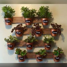 Indoor Wall Garden by HomeOniship on Etsy https://www.etsy.com/listing/247070405/indoor-wall-garden