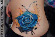 blue+rose+watercolor+by+dopeindulgence.deviantart.com+on+@deviantART