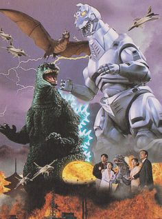 Posters from Godzilla vs. MechaGodzilla