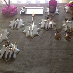 Preparations for a special dinner tonight using our marble stars. #ecru #tablesetting #star #marble #home #design #homeware