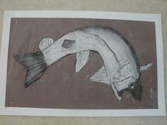 Riverside Cafe, Charcoal Drawings, Cushion Covers, Social Studies, School Ideas, Salmon, Moose Art, Pencil, Classroom