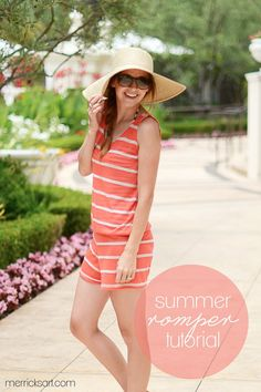 Summer Romper / Cover up tutorial. Possibly use a pre-made tank & good starter project to practice sewing knits!