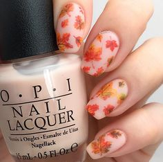 Stunning fall leaf manicure by @thehanninator using our Autumn Leaf Nail Stencils found at snailvinyls.com