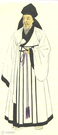 """""""Shim-eui"""" - a kind of clothing important men and scholars wore. Suyang wears this sometimes but without the silly hat."""