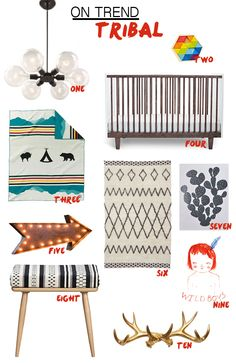 Babiekins Magazine shares a tribal nursery!