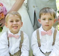 ring bearers with suspenders and bow ties. And you know they hate those fancy…