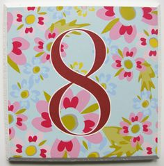 Botanical-inspired house number plaques from Tillie Mint