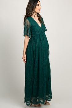 3ce75504a4e0d Forest Green Lace Mesh Overlay Maxi Dress Forest Green Dresses, Emerald  Green Dresses, Green