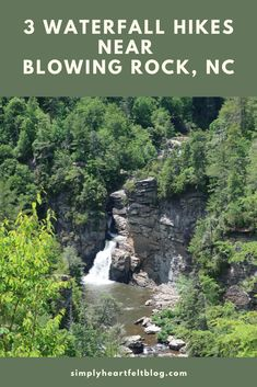 Anytime we are in the mountains, our family loves to find trails and waterfalls to explore. I'm going to share with you 3 waterfall hikes we did this time near Blowing Rock, NC. #BowlingRock #NorthCarolina #waterfallhikes #LinvilleFalls via @amerrill98