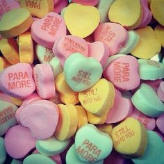 Anyone who preorders a copy of the new album on paramore.net before Tuesday at 10am will have the chance to win these custom Paramore candy hearts.