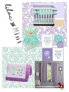 """""""Lilac and Mint Baby Room!"""" by izzy-belle1 ❤ liked on Polyvore featuring interior, interiors, interior design, home, home decor, interior decorating, Carter's, colorchallenge and lilacandmint"""