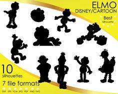 Hey, I found this really awesome Etsy listing at https://www.etsy.com/listing/515513117/10-silhouettes-elmo-sesame-street-disney