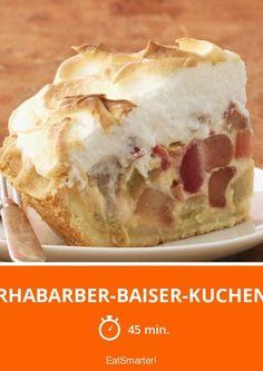 Rhabarber-Baiser-Kuchen - smarter - Zeit: 45 Min. | eatsmarter.de