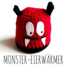 Anleitung: Monster-Eierwärmer häkeln