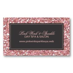 Trendy Pink Glitter Business Card