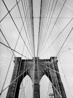 Detail of the Brooklyn Bridge Photographic Print by Alfred Eisenstaedt