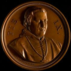 Pius IX, pope, bronze medal [1848] #Booktower Ghent University, Pope Pius Ix, Coin Books, Vatican, Christianity, Countries, Catholic, Coins, Bronze