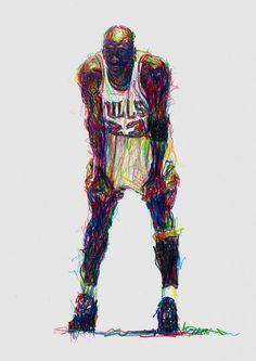 Michael Jordan Pencil Sketch