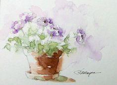 watercolor flower images | Watercolor Paintings by RoseAnn Hayes: Watercolor Painting Flowers