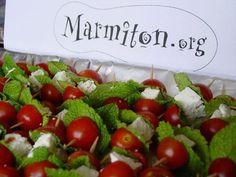 mozzarella, tomate cerise, feta, olives