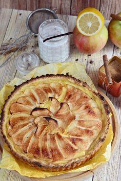 Almás-vaníliapudingos pite recept