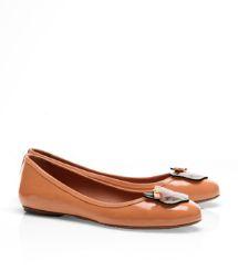 Leather Fox Ballet Flat