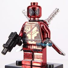 GBP - Superheroes Deadpool Marvel X-Men Xmen Custom Lego Minifigures Fit Building Toy Deadpool Hero, Lego Deadpool, Lego Club, Custom Lego, Lego Building, Xmen, Marvel Avengers, Spiderman, Fitness