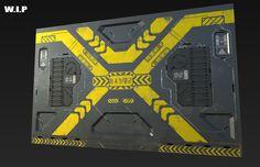 Futuristic environment. - Polycount Forum Spaceship Interior, Futuristic Interior, Futuristic Design, Environment Concept Art, Environment Design, Cafe Geek, Cyberpunk, Mechanical Design, Sci Fi Art