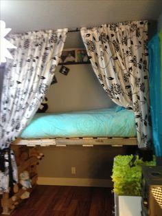 Pallet loft bed                                                                                                                                                      More