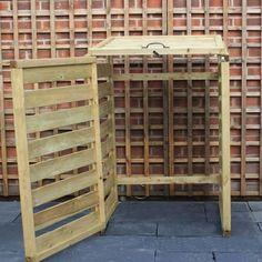 mülltonnenbox selber bauen simpel-idee-rahmen-gerüst-diy
