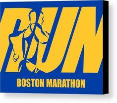Runner Canvas Print featuring the photograph Run Boston Marathon by Joe Hamilton