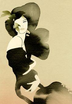 Cecilia Carlstedt-fashion illustration #Dark #Dreamy #FASHION