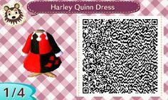 Harley Quinn Dress | QRCrossing.com http://qrcrossing.com/home/harley-quinn-dress/
