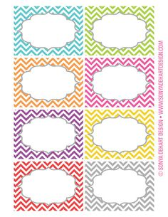 FREE Printable Chevron Labels from Sonya DeHart Design!